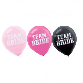 Team Bride Latex Balloons 30cm