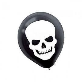 30cm Skull / Skeleton Head Latex Balloons