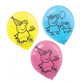 Peppa Pig Latex Balloons Assorted 30cm