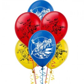 Justice League Latex Balloons Assorted