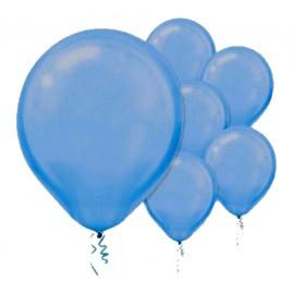 28cm Pearl Bright Royal Blue Latex Balloons 72PK
