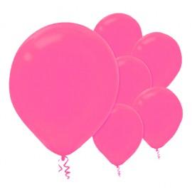 28cm Bright Pink Latex Balloons 15PK