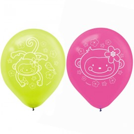 Monkey Love Latex Balloons 30cm