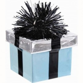 Balloon Weight Gift Box Teal Scroll