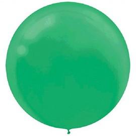 60cm Festive Green Round Latex Balloons
