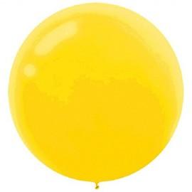 60cm Sunshine Yellow Round Latex Balloons