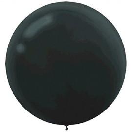 60cm Black Round Latex Balloons