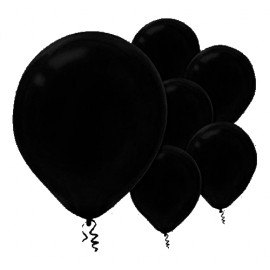 12cm Black Latex Balloons 50PK