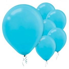 12cm Caribbean Blue Latex Balloons 50PK