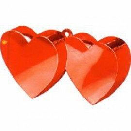 Balloon Weight Double Heart Red