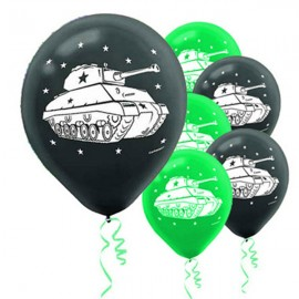 Camouflage Latex Balloons Army Tanks