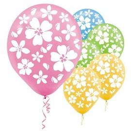 30cm Hibiscus Latex Balloons Tropical Assortment