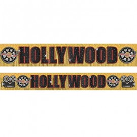 Banner Hollywood Gold Foil Fringe & Cardboard Cutouts