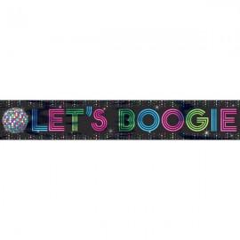 Disco Fever Foil Banner Let's Boogie