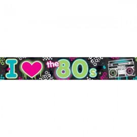 Totally 80's Foil Banner,