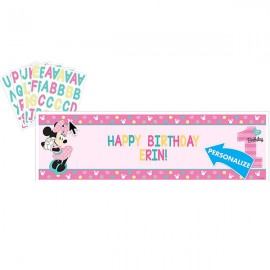 Minnie 1st Birthday Banner Fun To Be One