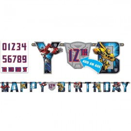 Transformers  Jumbo Add on Age Letter Banner