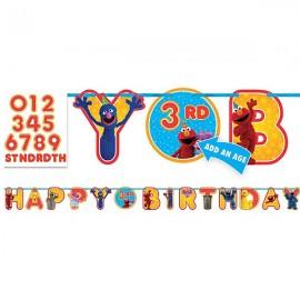 Sesame Street Letter Banner Happy Birthday