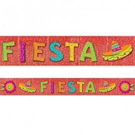 Banner Fiesta Red Foil Fringe & Cardboard Cutouts