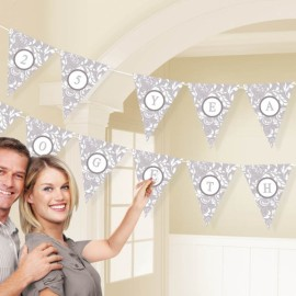 Pennant Banner Kit Personalise It - Silver