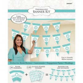 Pennant Banner Kit Personalise It Robin's Egg Blue