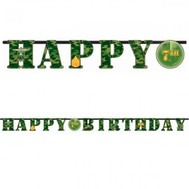 Camouflage Banner Letter Add An Age Happy Birthday