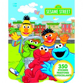 Sesame Street Sticker Book Jumbo Favor 350 Stickers
