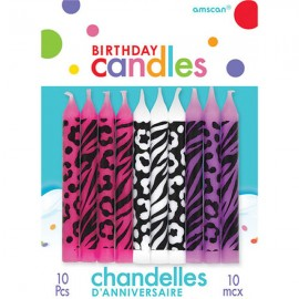 Candles Animal Print Assorted Colours
