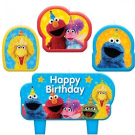 Sesame Street Candle Set Happy Birthday