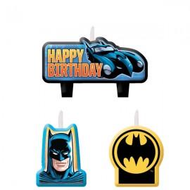 Batman Mini Moulded Candle Set Happy Birthday