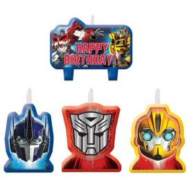 Transformers Candle Set Happy Birthday