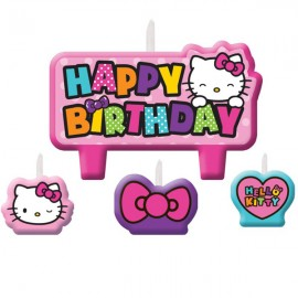 Hello Kitty Rainbow Candles Set Happy Birthday