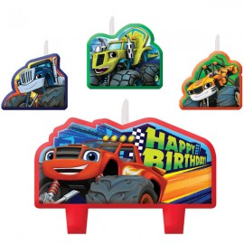 Blaze & The Monster Machines Candle Set Happy Birthday