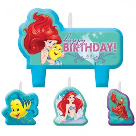 Ariel Dream Big Candle Set Little Mermaid Birthday