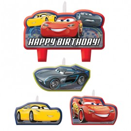 Cars 3 Candle Set Happy Birthday