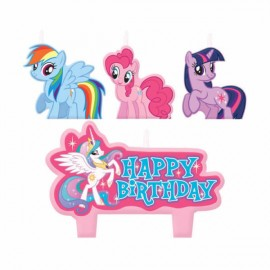 My Little Pony Candles Set Happy Birthday