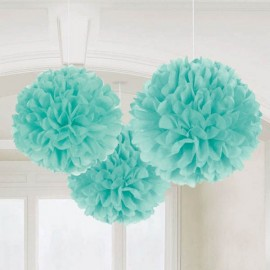 Fluffy Hanging Decorations Robin's Egg Blue - PROMO DEAL