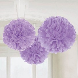 Fluffy Hanging Decorations Lilac - PROMO DEAL