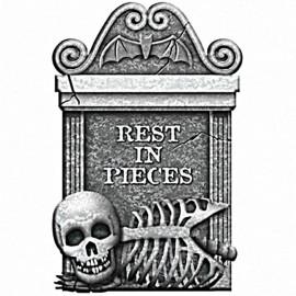 Tombstone Rest in Pieces -  Grey Foam
