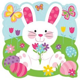 Easter Bunny Rabbit Cutout & Butterflies