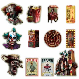 Creepy Carnival Side Show Cutouts Value Pack