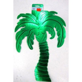 Cutout Palm Tree Green Embossed Foil