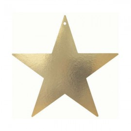 Stars Cutouts Gold 85mm Metallic Cardboard