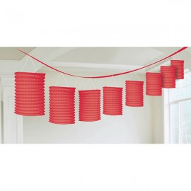 Lanterns Garland Red
