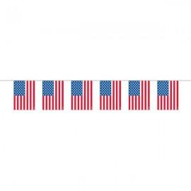 Garland American Flag Plastic
