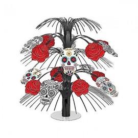 Black & Bone Skulls & Roses Cascade Centrepiece