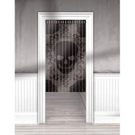 Door Curtain Lace Mesh Fright Night Skull