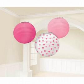Lanterns Girl Assorted Pink & Dots