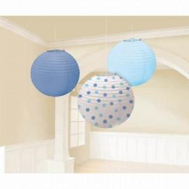 Lanterns Boy Assorted Blue & Dots