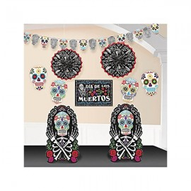 Black & Bone Skulls Room Decorating Kit
